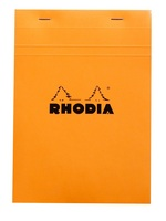 The classic Rhodia notepad with orange cover.