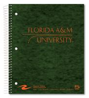 Imprinted 5 Subject Notebook