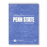 1 sub imprinted notebook.  8.5 x 11.75, College Ruled.  80 sheets. Pressboard cover, foil stamped.