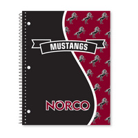 Roaring Spring Digi Divide Cover Notebook, 1 Subject, 70 Sheets