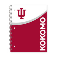 1 sub imprinted notebook.  11 x 8.5 College Ruled 70 sheets.  Digi Top Split Cover Design