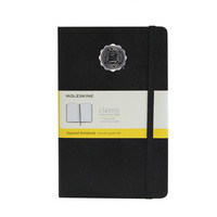Moleskine Large Notebook with Seal, Black