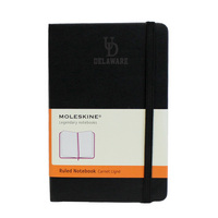 Moleskine Pocket Notebook with Debossed Logo, Ruled