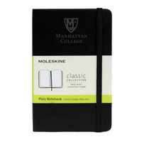 Moleskine Pocket Notebook with Debossed Logo, Unruled