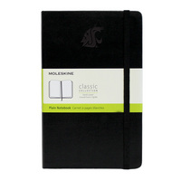 Moleskine Large Notebook with Debossed Logo, Unruled