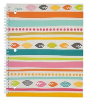 Mead Botanical Boutique 1 Subject Notebook, 80 ct, CR (Assorted Designs)