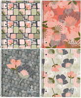 Petals & Stripes 1 Subject Notebook (Assorted Patterns)