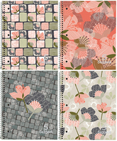 Petals & Stripes 5 Subject Notebook (Assorted Patterns)