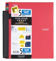 5 Subject Advanced Notebook With Pockets And Index Cards