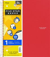 Five Star Wirebound Notebook  1 Subject