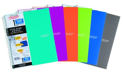 FIVE STAR 1 SUBJECT WIREBOUND TREND NOTEBOOK (ASSORTED COLORS)