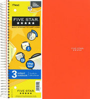 Five Star Trend 11X85 Wirebound Notebook - 3 Subject