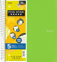 Five Star Trend 11X85 Wirebound Notebook - 5 Subject