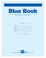 Blue Examination Book11 X 8.5 8 Page