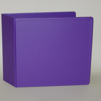 Four Point 3 inch Vinyl Ring Binders 11x8.5 Purple
