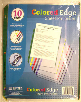 Colored Edge Sheet Protector
