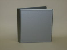 Four Point Binder Vinyl 1 inch Silver