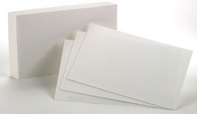 Index Cards 5X8 Unruled 100 Count