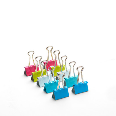 Poppin Medium Binder Clips, Assorted Colors