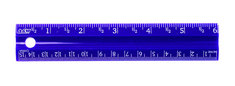 6 Inch Plastic Ruler Asst Colors