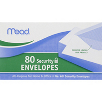 Mead Envelope #634 Security, 80CT