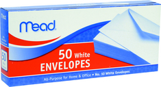 50 Count White Envelopes