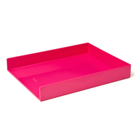 Poppin Pink Letter Tray