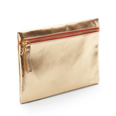 Poppin Slim Accessory Pouch, Gold