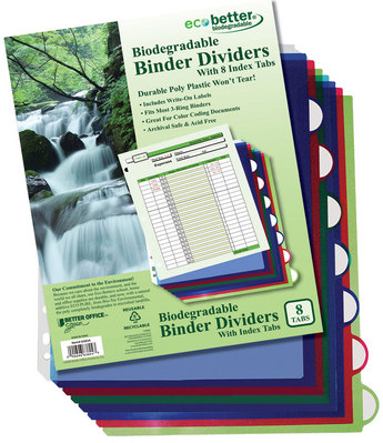 8 Tab Binder Index