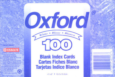 White Index Cards
