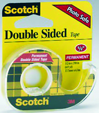 3M Scotch Double Sided Tape, 1/2 Inches X 250 Inches