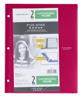 Five Star Customizable Clearview 2 Pocket Portfolio (ASSORTED COLORS)