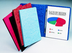 Black Pressboard Report Cover 9 X 12 Holds Letter Size Paper