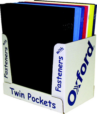 2 Pocket Portfolios With Fasteners Assorted Color