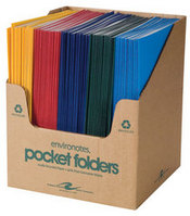 Recycled 2 Pocket Portfolio - Assorted Standard Colors