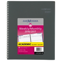 At A Glance DayMinder Weekly and Monthly Planner for Academic Year, 2016 2017, Gray