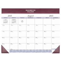 Academic Desk Pad Calendar, Aug 2015 through Dec 2016
