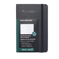 Black pocket 18 mo Planner  Hard Cover July 2017  Dec2018 School Name Foil Stamped