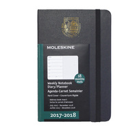 Black pocket 18 mo  Planner  Hard Cover July 2017  Dec2018 School Seal Foil Stamped