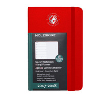Red  18 mo Planner  Hard Cover July 2017  Dec 2018 School Seal Foil Stamped