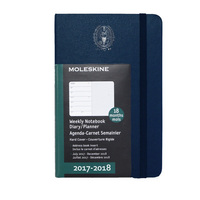 Navy 18 mo Planner  Hard Cover July 2017  Dec 2018 School Seal Foil Stamped
