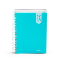 Poppin Aqua Medium 18 Month Pocket Book Planner, 2017 and 2018