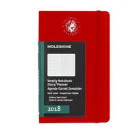 Red  12 mo Planner  Hard Cover Jan 2018  Dec 2018 School Seal Foil Stamped