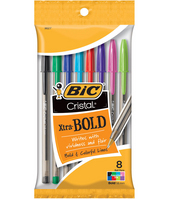 CRISTAL XTRA BOLD ASST FASHION 1.6mm 8pk