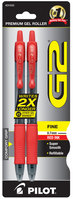G2 GEL RED FINE PEN 2PK