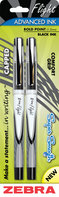 FLIGHT GEL STICK PEN BLACK 2PK
