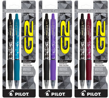 Pilot G2 Gel Mosaic Collection Pens, 2 pack (Assorted Colors)