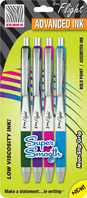 Zebra Advanced lnk Ballpoint Pen 4 Pack