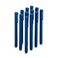 Poppin Signature Ballpoint Pens with Blue Ink, Set of 12, Navy