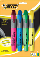 Bic Briteliner Grip 4 Pack Assorted Color Highlighter